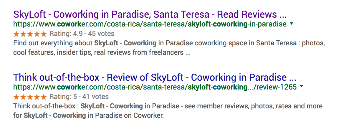 Coworker SEO Search Results