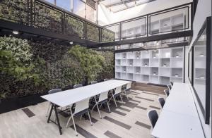 A desk at Co+Labora in Colombia's Bogotá.