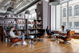 A coworking space in Moscow.